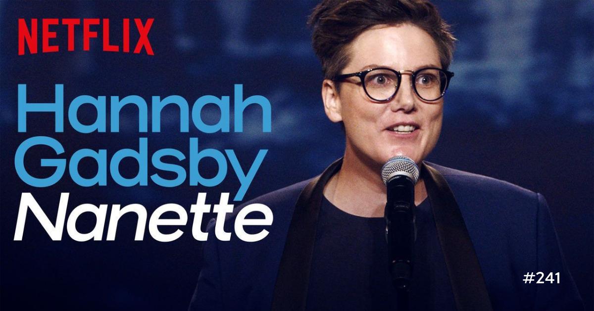 Title screenshot of Hannah Gadsby's Nanette on Netflix